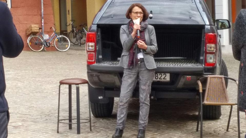 """Demo am Haidplatz: """"Vom Staat behandelt wie eine"""